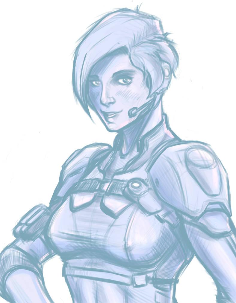 [Sketch] Cassie Cage by AlexZebol