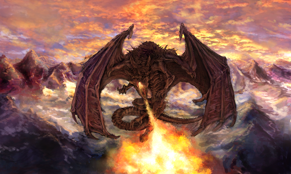 Fire Breathing Dragon By Muppza How To Draw