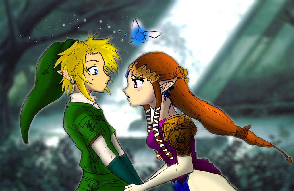 Link And Zelda Relationship Link and Zelda love mo...