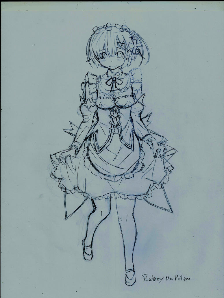 Rem - WIP(Re:ZERO Starting Life in Another World) by rodneywoof