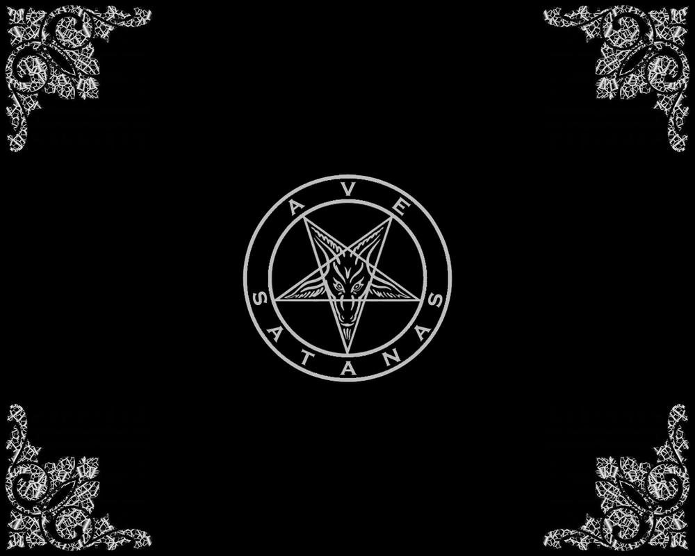 Ave Satanas Wallpaper by NecroticAlchemist