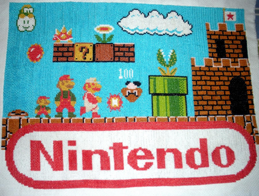 Super Mario Bros Cross Stitch by SweetNerdyCakes