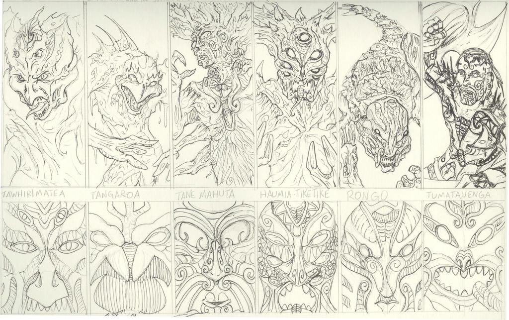Maori Mythology: Maori Mythology By Typhonian-Apkallu On DeviantArt