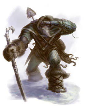 Half Orc Mountain Wanderer