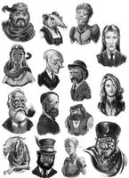 Victoriana -Cast Of Characters by ScottPurdy