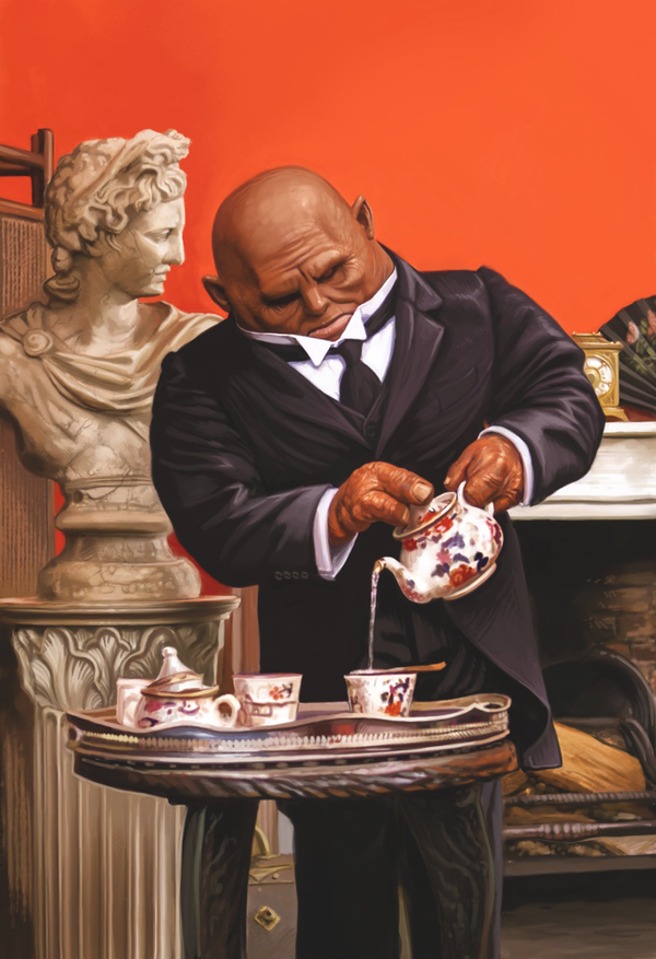 Doctor Who Card Game - Victorian Butler Strax by ScottPurdy