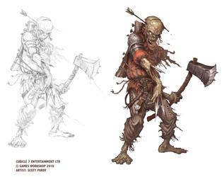Warhammer Fantasy RPG 4TH EDITION - Zombie by ScottPurdy