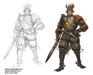 Warhammer Fantasy Roleplay - Cavalryman by ScottPurdy