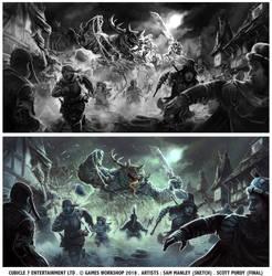 Warhammer Fantasy Roleplay - Nurgle Attack by ScottPurdy