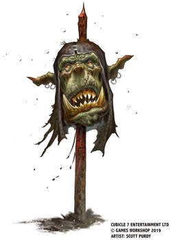 Warhammer Fantasy Roleplay - Orc On A Stick