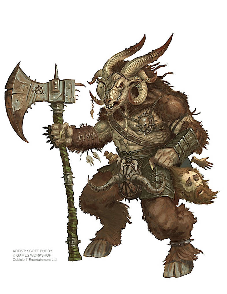 Warhammer Fantasy Roleplay - Beastman by ScottPurdy on DeviantArt