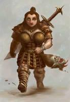 Dwarf 1-0 Orc by ScottPurdy