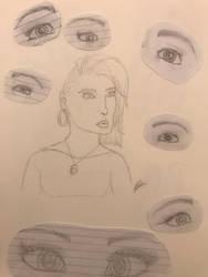 Random sketches by SpiritWolf3639