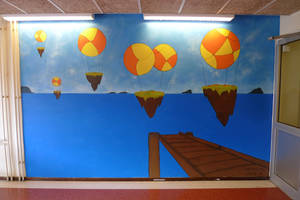 Balloons on wall by Regith