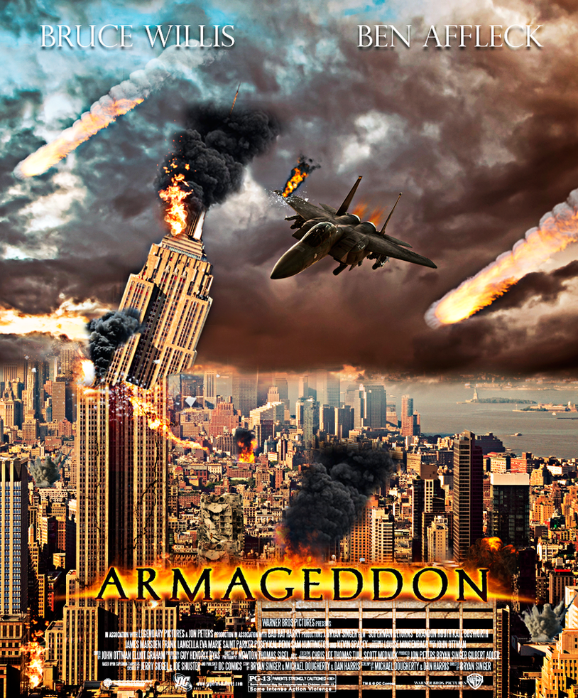 promotional armageddon movie poster 1998 by twocreatividad on