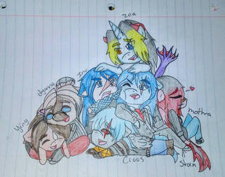 cute chibi group by borisairay12