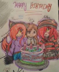 Today is Mine mothra and hinami Birthday