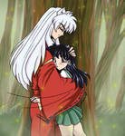 Inuyasha-Surprise Hug