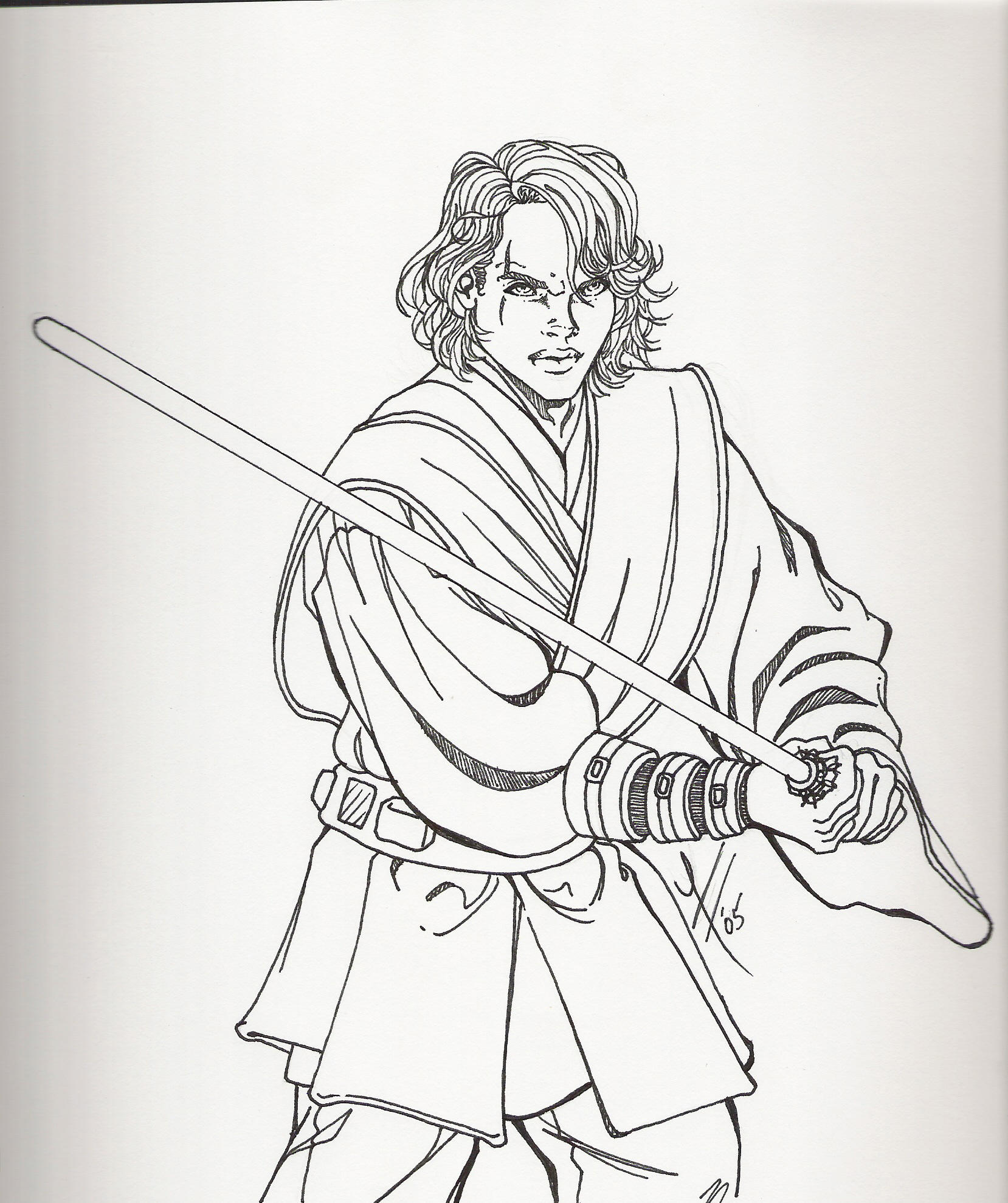 Anakin Skywalker Coloring Pictures Murderthestout