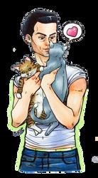 Moriarty - Cat snuggler by roryalice
