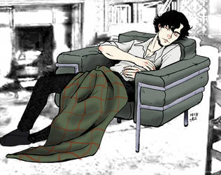 sherlock sleeping by roryalice