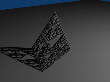 Sierpinski triangle 3d