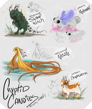 CLOSED: GUEST ARTIST CANDY CRYPTIDS