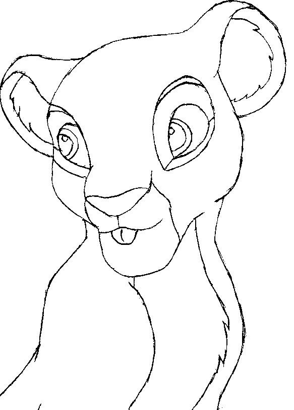 Lion Cub OutLine by peterpandagirl on DeviantArt