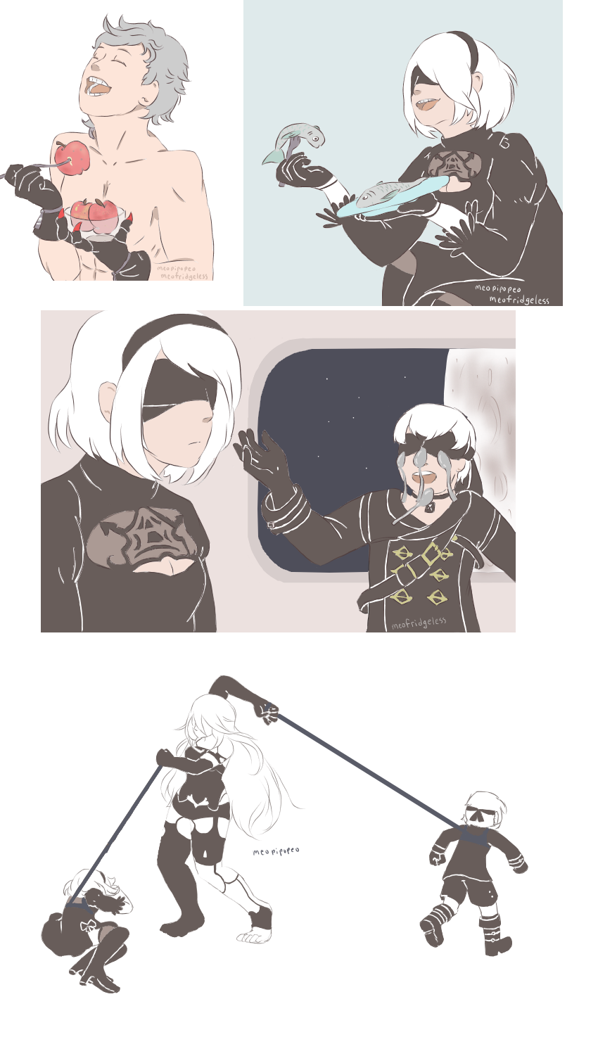 Nier Automata Meme Edition By Meopipopeo On Deviantart