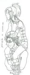 aurikku: piggyback ride by prettychaos