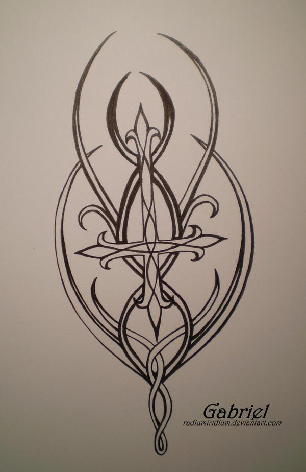 tattoo design elven cross by radiumiridium on deviantart. Black Bedroom Furniture Sets. Home Design Ideas