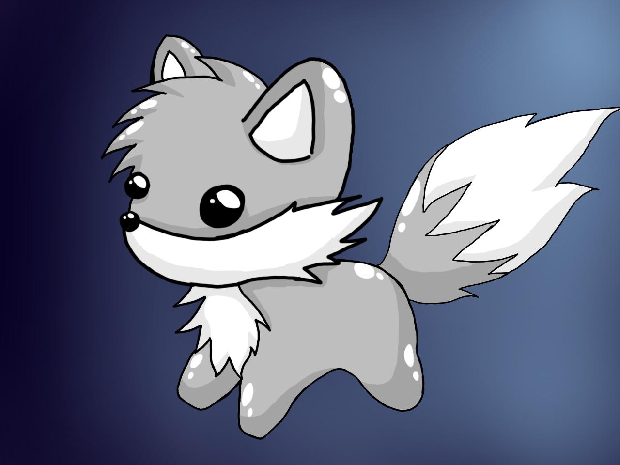 Cute wolf by ALunarFox on DeviantArt - photo#8
