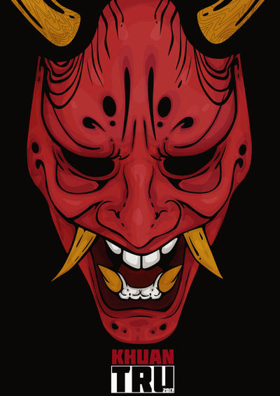 japanese oni mask by khuantru on deviantart