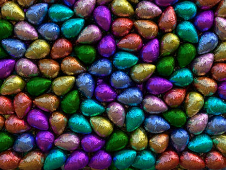 Wall of easter eggs