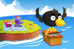 Crow has stolen sushi