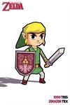 Zelda Link 3D low poly