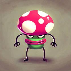 Pink Mushroom by madPXL