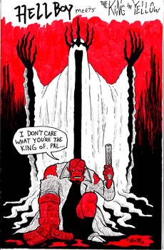 Hellboy meets the King in Yellow
