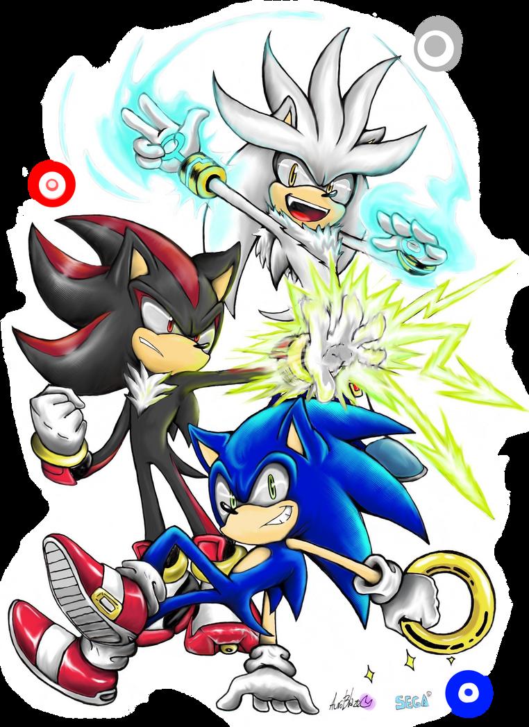 The Hedgehog Trio colored by Auroblaze