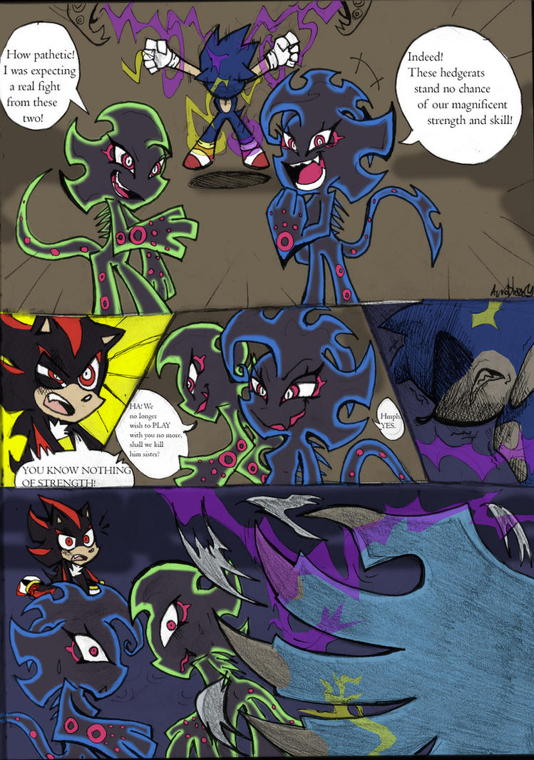 Coloured!Sonic PSG Style sketch comic pg 1 by Auroblaze on