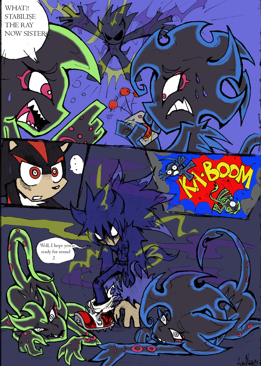 Coloured!Sonic PSG Style sketch comic pg 4 by Auroblaze on