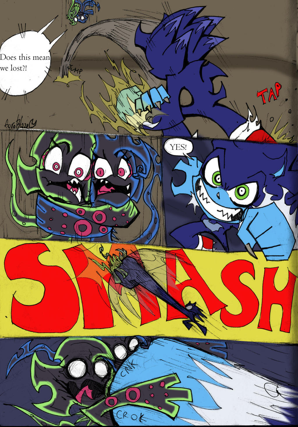 Coloured!Sonic PSG Style sketch comic pg 3 by Auroblaze on