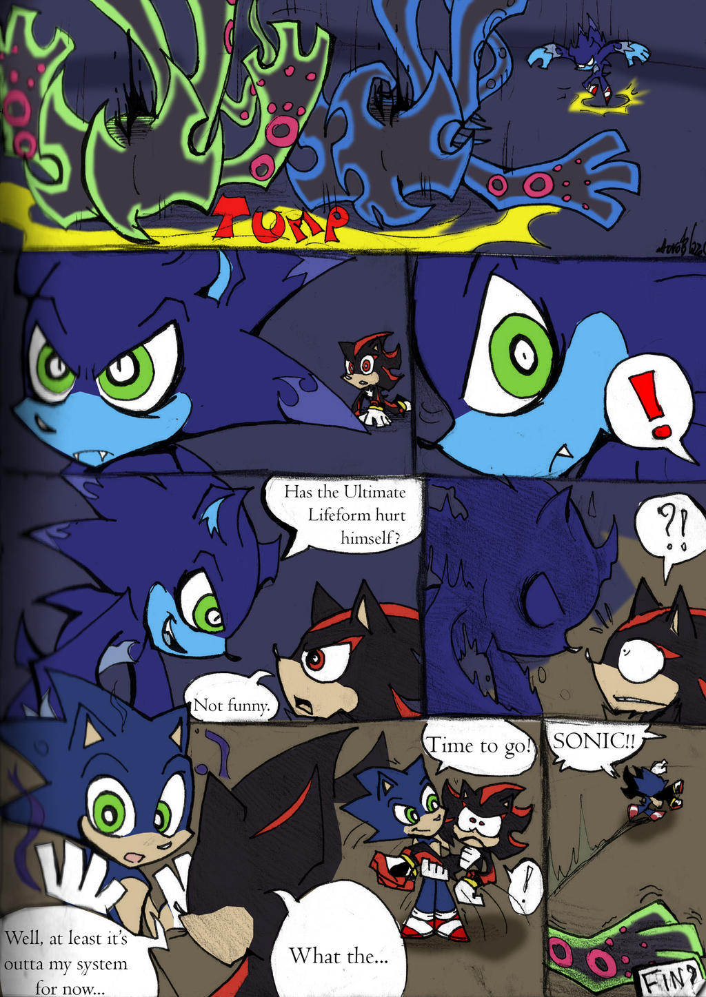 Coloured!Sonic PSG Style sketch comic pg 5 by Auroblaze on