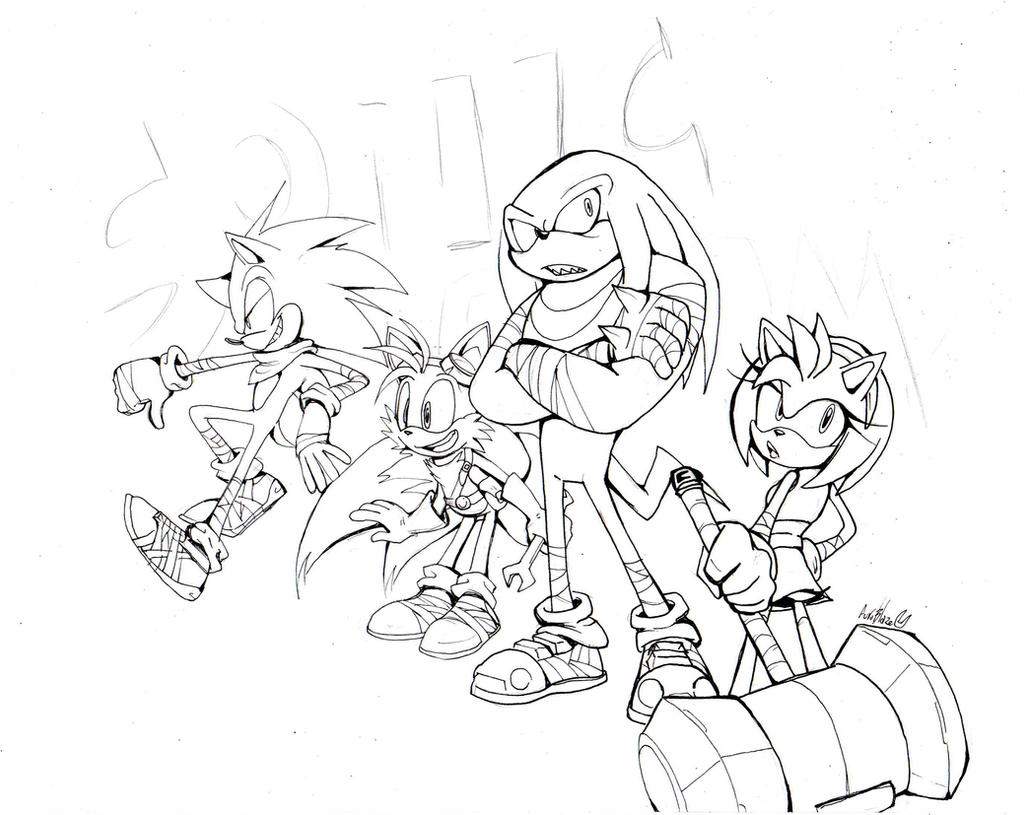 Wip Sonic Boom By Auroblaze On Deviantart Sonic Boom Coloring Pages