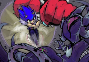 SKULLMOBIANS: Sonic vs Mephiles...ACTION! by Auroblaze