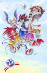 Sonic 25th Anniversary: colored