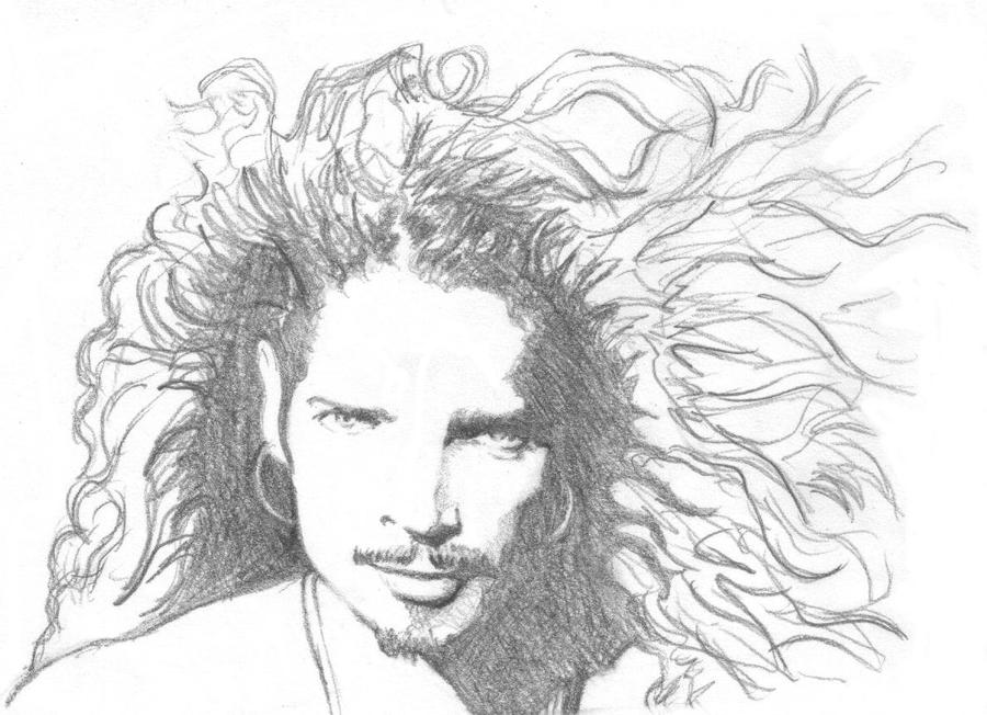 Chris Cornell - Quick Portrait by OPTstuff