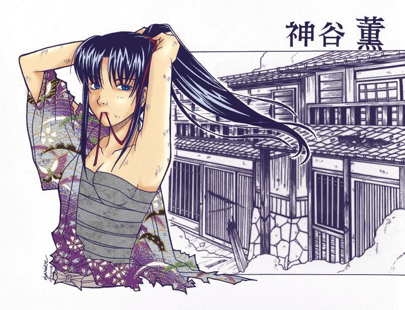 Kamiya Kaoru -colored- by Elielie