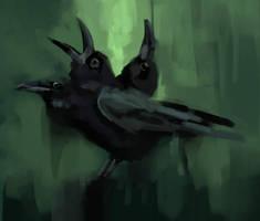Three head raven