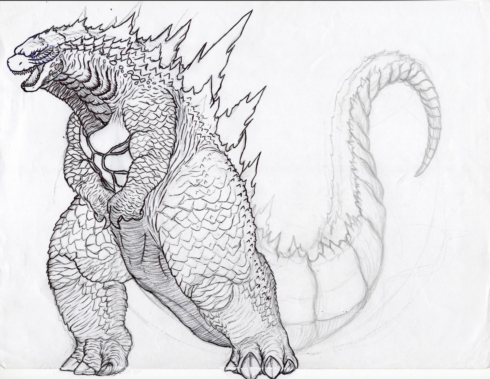All Godzilla Picheres Free Coloring